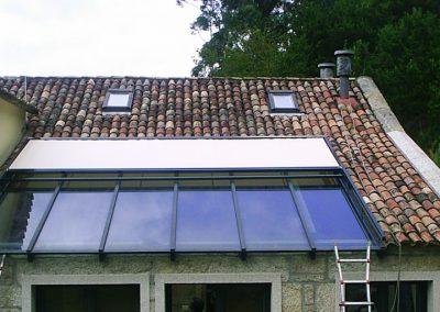 toldo veranda para casa antigua